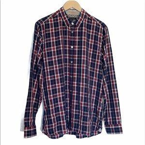 Ted Baker Long Sleeve Plaid Button-Up Shirt